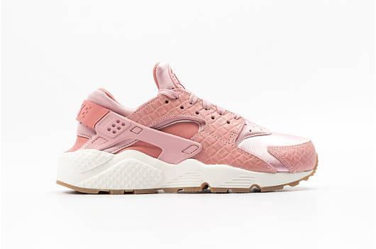 Женские кроссовки Nike WMNS Air Huarache Run Premium (pink / white)