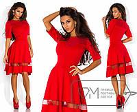 Стильное красное платье DM-5477