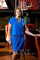 Платье Саша (48 размер, Электрик) ТМ «PEONY»