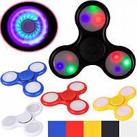 Светящийся спиннер, Светодиодный LED Spinner - игрушка антистресс, Hand spinner, Finger spinner, Хит продаж