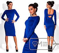 Синее платье с вырезом на спине DM-6123