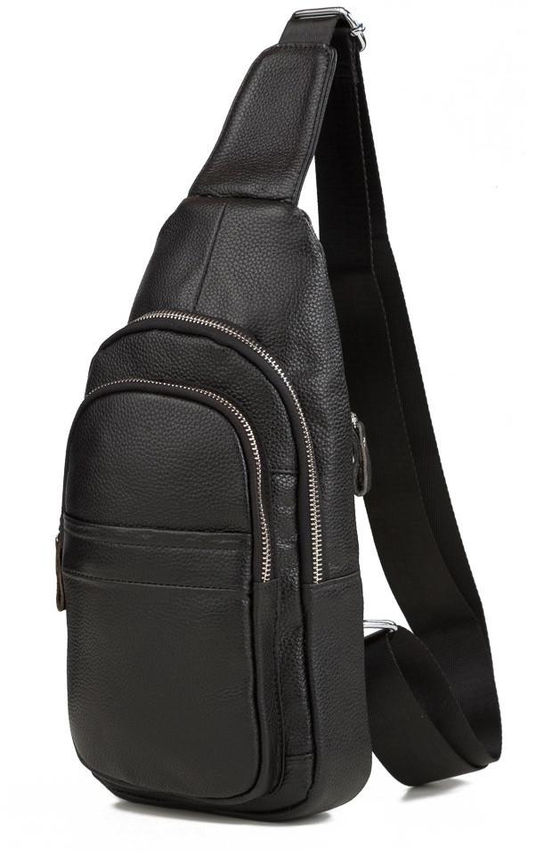 632c4ce9bfbd Удобная мужская кожаная сумка-мессенджер на плечо черная - АксМаркет в Киеве