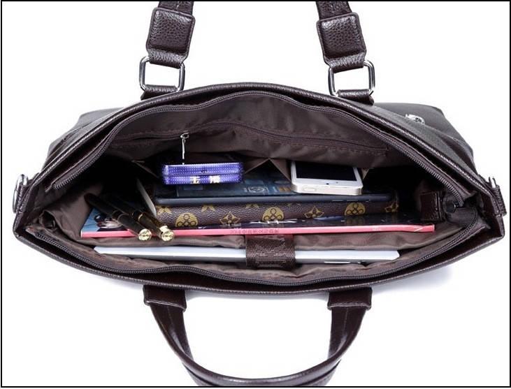 Сумка мужская Polo Business кожаная для документов через плечо. Чоловіча сумка Поло | Черная, фото 5