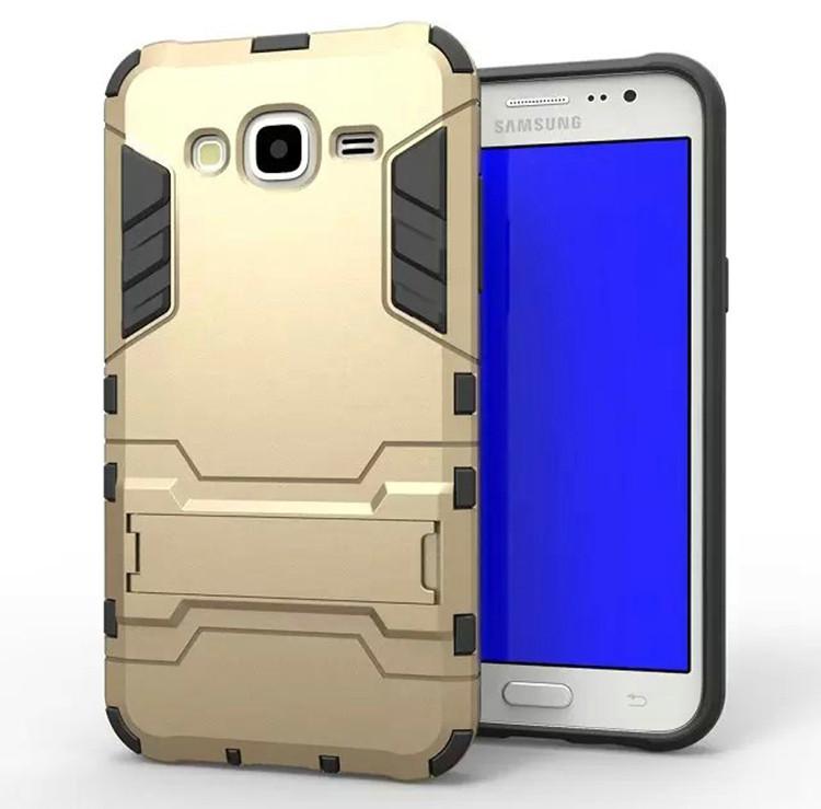 Чехол Iron для Samsung J5 2015 / J500H / J500 / J500F бронированный бампер Gold