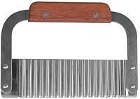 8634 Резак Карбовочный с деревянной Ручкой 18см