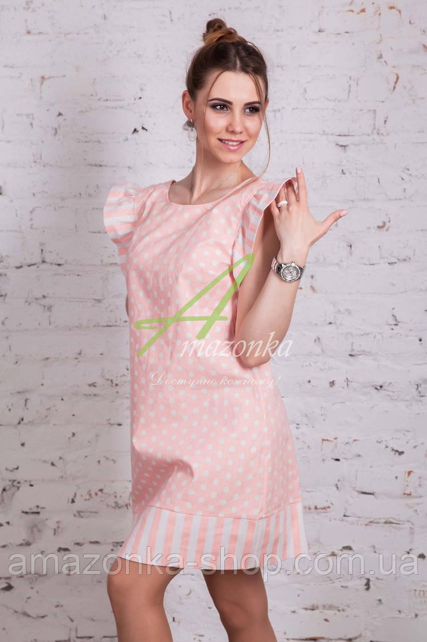 Женское летнее платье в горошек 2018 (новинка) от производителя - Код пл-227