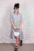 Женское летнее платье в полоску 2018 (новинка) от производителя - Код пл-220, фото 1