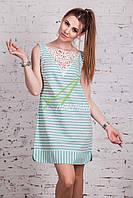 Женское пляжное платье в полоску 2018 (новинка) от производителя - Код пл-221, фото 1