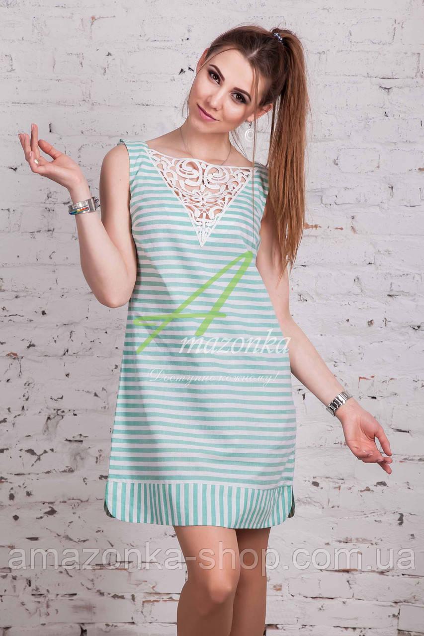 Женское пляжное платье в полоску 2018 (новинка) от производителя - Код пл-221