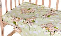 Постель сменный комплект GOLD Qvatro 620532 Салатовая (мишка-мальчик и мишка-девочка спят)