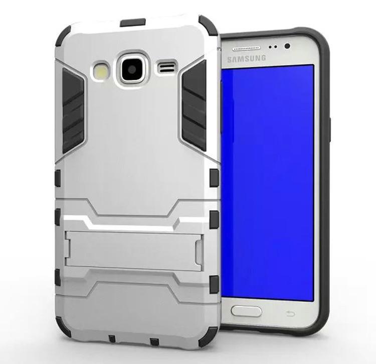 Чехол Iron для Samsung J7 2015 / J700H / J700 / J700F бронированный бампер Броня Silver
