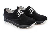 Черные кроссовки комфорт из натуральной замши