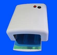 УФ лампа для наращивания ногтей и гель лака на 36 Вт с таймером на 2 мин , большой размер с предохранителем.
