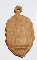"""Доска сувенирная с выжиганием девушки и надписи """"Найкращій сусідці"""" 17х30 см (10шт)"""