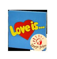 """Шоколадный подарочный набор на 9 плиточек """"Love is"""""""