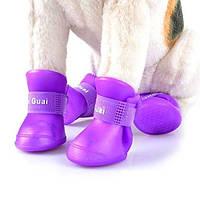 Ботиночки для собак силиконовые прорезиненные непромокайки (для кошек, размеры XL - XXL, в упаковке 4 шт)