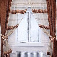 Кухонная занавесь, шторки с подвязками е301