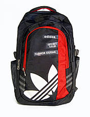 Универсальный рюкзак для школы и прогулок качественная реплика Adidas серый, фото 2