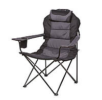 Кресло Мастер Карп д. 16 мм серо-черный