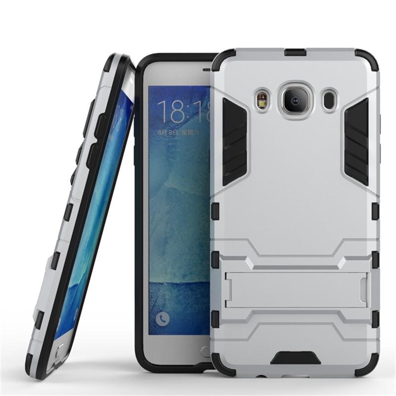 Чехол Iron для Samsung J7 2016 / J710H / J710 / J710F бронированный бампер Броня Silver