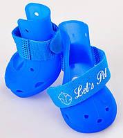 Ботиночки летние для собак силиконовые прорезиненные непромокайки (для кошек, размеры S - L, в упаковке 4 шт)