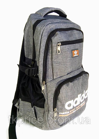 c6bdf4ac7333 Универсальный рюкзак для школы и прогулок качественная реплика Adidas  серый, ...