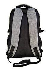 Универсальный рюкзак для школы и прогулок качественная реплика  Adidas серый, фото 3