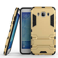 Чехол противоударный для Samsung J5 2016 J510 J510H бампер Gold