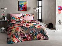 Двуспальное евро постельное белье TAC Joel Pink Сатин-Digital