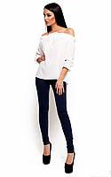 Женская модная блузка белая, р.42-46
