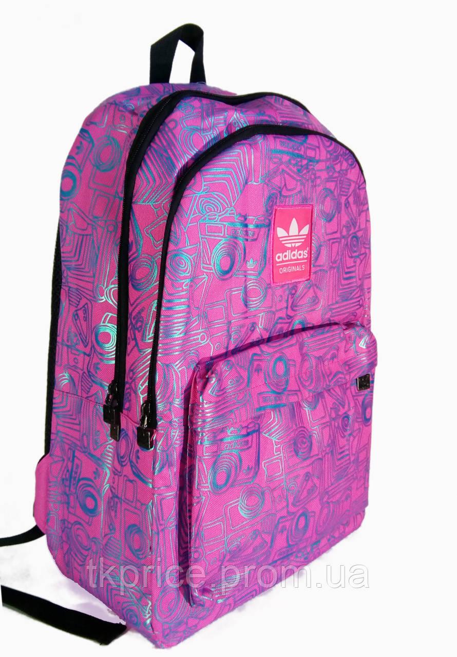 982897aed130 Универсальный рюкзак для школы и прогулок качественная реплика Adidas  розовый - Интернет-магазин