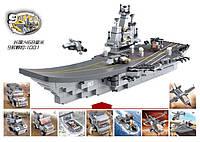 Конструктор SLUBAN M38-B0537 АРМИЯ - Авианосец-трансформер (1001 дет.), фото 1