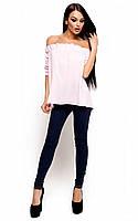 Женская модная блузка розовая, р.42-46