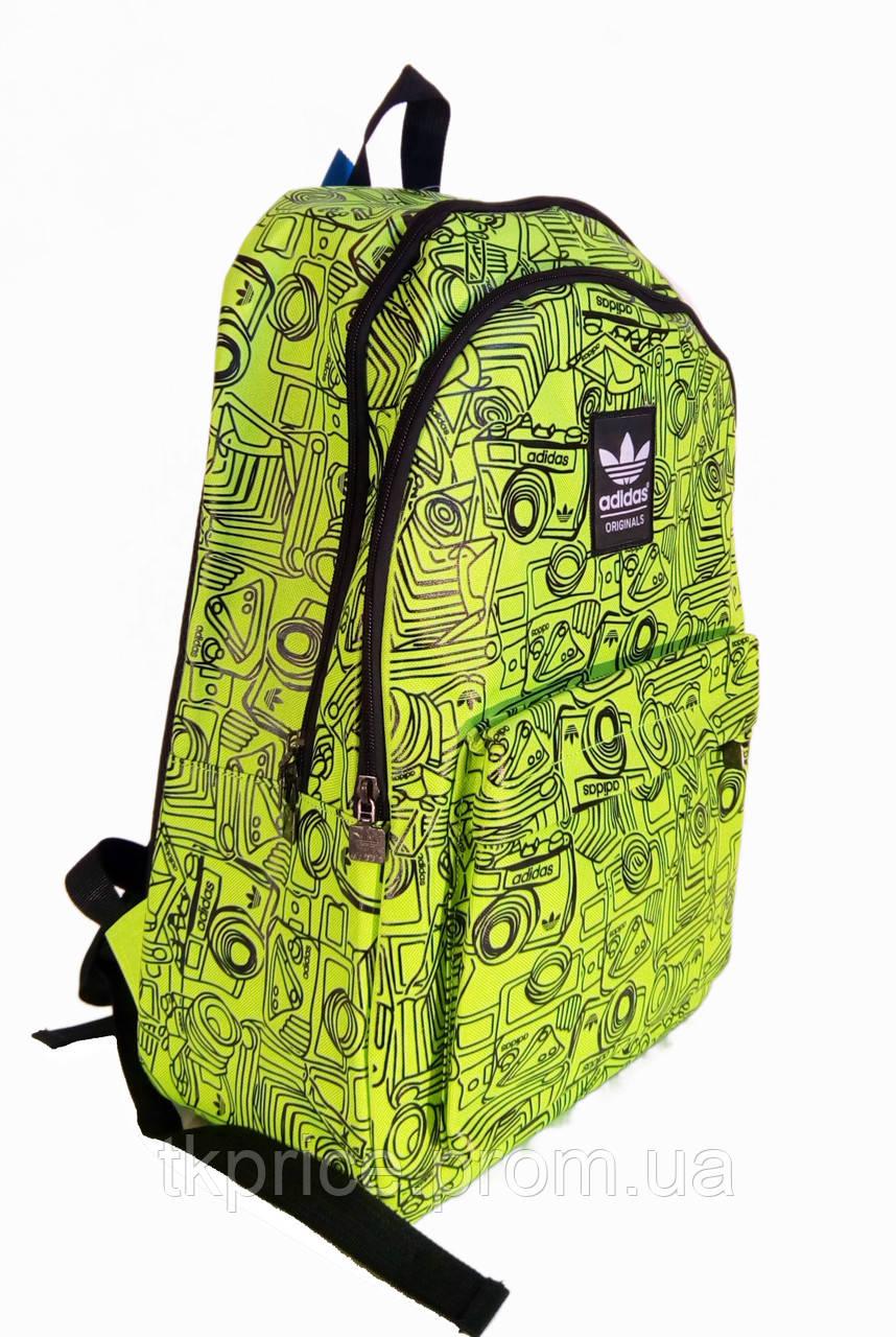 0a9f4281f59c Универсальный рюкзак для школы и прогулок качественная реплика Adidas  желтый - Интернет-магазин