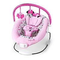 Кресло-шезлонг с вибрацией и мелодиями Дисней Минни Маус, Disney Minnie Mouse Garden Delights Bouncer