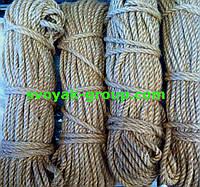 Веревка джутовая крученная - 8 мм./50 м.