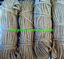 Веревка джутовая крученная - 6 мм./50м.