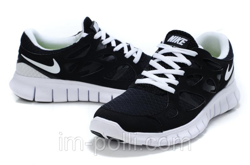 Кроссовки женские Nike Free Run 2.0 черные с белым