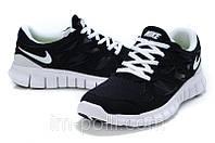 Кроссовки женские Nike Free Run 2.0 черные с белым, фото 1