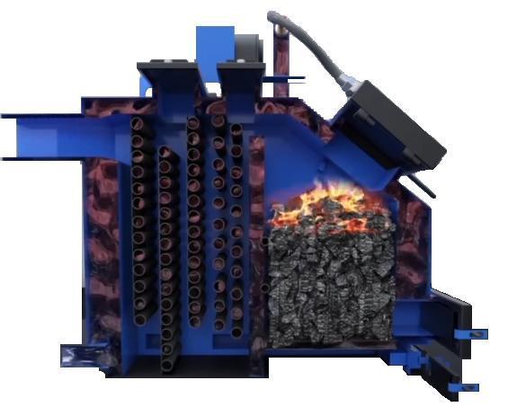 Промышленный твердотопливный котел 700 кВт
