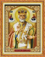 Святой Николай с книгой Набор для вышивки крестом с печатью на ткани 14ст