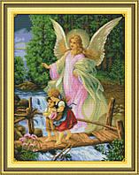 Ангел Хранитель Набор для вышивки крестом с печатью на ткани 14ст