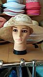 Шляпа женская на лето из натуральной соломки синамей, фото 3