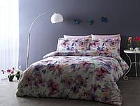 Двуспальное евро постельное белье TAC Powdery Сатин-Digital