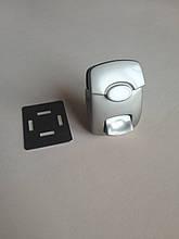 Замок клавишный для сумки, цвет - сатен, артикул СК 5130
