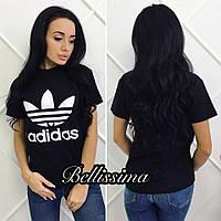 """Стильная женская футболка """"Adidas"""" (хлопок, короткий рукав, надпись) РАЗНЫЕ ЦВЕТА!"""