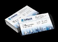 Макет визитки, дизайн визитной карточки