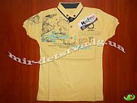 Стильная футболка-поло для мальчиков оптом, Турция р.5-6-7-8 лет