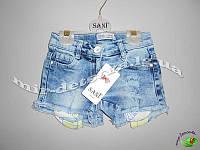 Джинсовые шорты для девочек, Турция оптом р.2-5 лет (4 шт в ростовке)