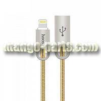HOCO lightning кабель U8 Zinc alloy metal, gold
